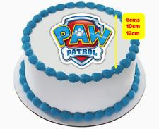 #574. Paw patrol logo edible premium  icing or wafer cupcake & cake toppers