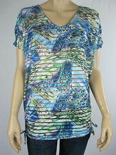 Crossroads Ladies Burnout Strip Top sizes 12 14 18 22 Multi Colour