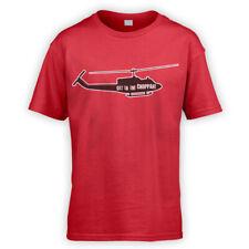 Get To The Choppah Kids T-Shirt -x10 Colours- Movie Ugly Choppa Predator