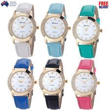 6 COLORS Luxury Gold Simple Wristwatch Women Leather Analog Quartz