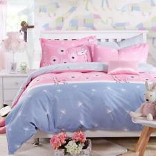 Pink Deer Kids Single Double Queen King Quilt/Duvet/Doona Cover Set Pillowcase