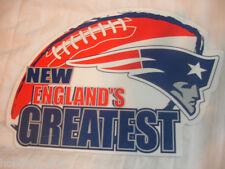 NEW ENGLAND PATRIOTS New England's Greatest Logo Football NFL Car Magnet NEW