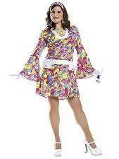 NEW - Groovy Chic Dress & Headband Women Adult Plus - Costume Culture 48251