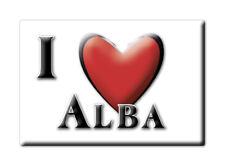 CALAMITA PIEMONTE ITALIA FRIDGE MAGNET MAGNETE SOUVENIR I LOVE ALBA (CN)--