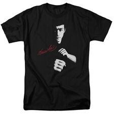 Bruce Lee The Dragon Awaits Mens Short Sleeve Shirt BLACK