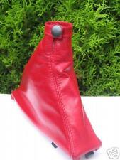 FITS ALFA ROMEO 156 RED HANDBRAKE GAITER GENUINE LEATHER NEW
