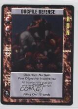 1995 Upper Deck Gridiron Fantasy Football #DODE Dogpile Defense Card
