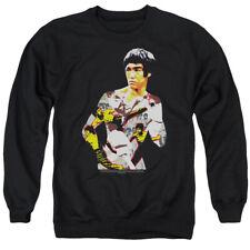 Bruce Lee Body Of Action Mens Crewneck Sweatshirt Black