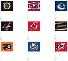 NHL Team Logo Car Window Flag RICO Industries or Fremont Die -Select- Team Below