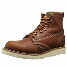 Thorogood 6'' Plain Toe Wedge 814-4355 Tobacco Mens Leather Work Ankle Boots