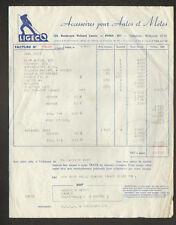 """PARIS (XI°) ACCESSOIRES pour AUTOMOBILE & MOTO  """"LIGECO"""" en 1956"""