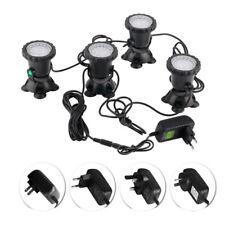 1 Set 4 Lights LED RGB Pond Spot Lights Underwater Pool Fountain IP68+IR Remote