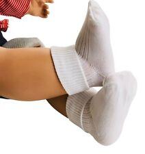 Baby Socks 6 pairs of White Turn over top ankle length 100% Nylon UK made.