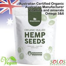 HEMP SEEDS AUSTRALIAN CERTIFIED ORGANIC VEGAN PLANT BASED FOOD 250g,1kg,2kg,4kg