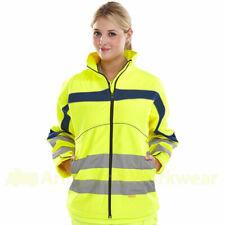 Ladies/Unisex Soft Shell B SEEN Hi Viz Jacket Breathable Windproof Waterproof
