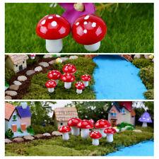 10-100X Mini Champignon Mousse Jardin Ornement Miniature Fée Plante Pot DIY Déco