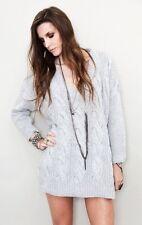 NWT AUTH One Teaspoon Grey Denver Knit Sweater $145