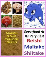 ORGANIC Source Of Vegan Vitamin D - Reishi Mushroom Mix Capsules