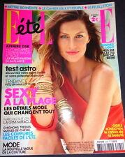 French Elle 7/2011 Gisele Bundchen Tori Praver Isabella Rossellini Casey Anthony