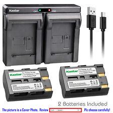 Kastar Battery Dual Charger for Konica Minolta NP-400 Maxxum 5D Maxxum 7D Camera