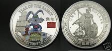 1999 GB Lrg Color Proof China Rabbit Macau Roulette 1$