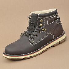 DOCKERS Hombres Botas Cuero BOOT Zapatos de cordones marrón (Chocolate)
