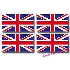 4 x Glossy Vinyl Stickers - Union Jack Small Flag 5cm x 2.7 Bike Helmet  #0064A