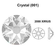 CRYSTAL 001 clear Genuine Swarovski 2058 & 2088 Flat Back Rhinestones *All Sizes