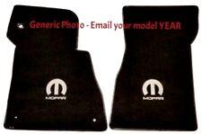 Dodge Dart Fit Black Carpet Floor Mats 4PC w/MOPAR Logo Fronts Pick Logo Color