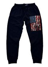 Men's US Flag Jogger Training Gym Workout pants dance america beast hip pop 911