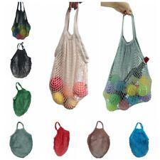 String Shopping Grocery Bag Cotton Tote Mesh Net Woven Mesh Reusable Handbag
