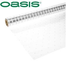 80cm Wide Clear Cellophane Polka Dot Film Roll Gift Wrap Dotty Acetate Celophane