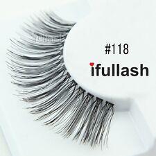 #118  6 or 12 pairs of ifullash 100% human hair Eyelashes- BLACK