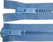 "ZIP 23 ""/ 58CM Denim blue-2199,doppio DENTI PLASTICA two-way,a"
