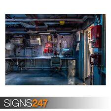 USS Midway táctico de control (AC096) Cartel del Ejército-arte cartel impresión A0 A1 A2 A3