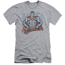 Superman Vintage Stance DC Comics Licensed Adult T Shirt