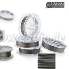 (0,87€/m) Schmuckdraht 19 Stränge 0,25 bis 0,60mm silber 9,15m  von Griffin