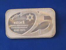 USSC 1973 Israel 25th Anniversary Silver Art Bar B2758