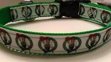 Handmade Boston Celtics dog collar adjustable nylon