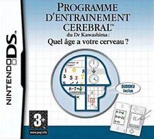 Programme d'Entraînement cérébral du DR Kawashima : Quel age a votre cerveau ?DS