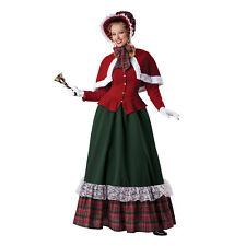 Yuletide Christmas Caroler Women's Costume Dress Cape Dickens Classic S M L XL