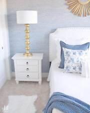 Faux Texture Grasscloth Traditional Wallpaper Modern Cottage Ocean Blue York