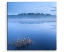 Landschaftsfotografie – Stiller See bei Nebel auf Leinwand