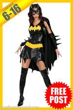 Ladies Costume Fancy Dress Up RD Licensed Batgirl Batman Superhero Cosplay 6-16