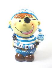 Spardose mit Namen Pirat Piratenbande Keramik Sparschwein personalisiert