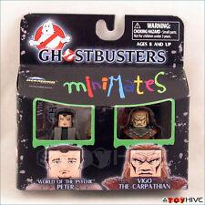 Minimates Ghostbusters Peter and Vigo the Carpathian figures worn package