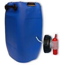 Bidon plastique 60 L Bleu DIN 71 + 1 Robinet aéroflow, Alimentaire (22047+045)