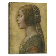 da Vinci ritratto di una sforza quadro stampa tela dipinto telaio arredo casa