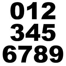Hausnummer Haustür Aufkleber Briefkasten Zahl Nummer Startnummer Zahlen ArialBlk