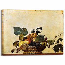 Caravaggio canestro di frutta quadro stampa tela dipinto telaio arredo casa